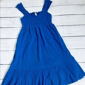 Maeve Anthropologie Blue Midi Dress Size 0